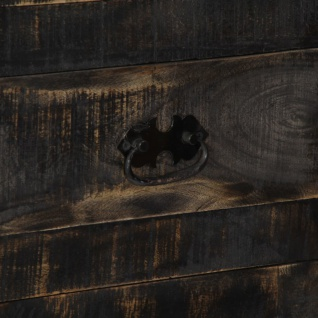 vidaXL Highboard Schwarz 90×40×180 cm Massivholz Mango - Vorschau 3