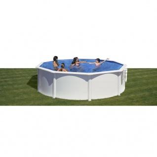 Gre Pool-Set Azores Rund Weiß 350cm KITPR358