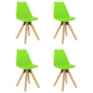 vidaXL Esszimmerstühle 4 Stk. Grün