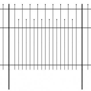 vidaXL Dekorativer Sicherheits-Palisadenzaun Stahl 600×175 cm