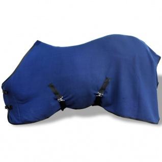 Pferdedecke Fleecedecke Abschwitzdecke mit Kreuzbegurtung 125 cm blau