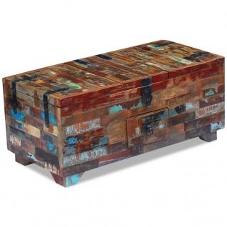 vidaXL Couchtisch Truhe recyceltes Massivholz 80x40x35 cm - Vorschau 3
