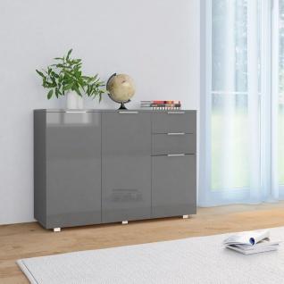 vidaXL Sideboard Hochglanz-Grau 107 x 35 x 76 cm