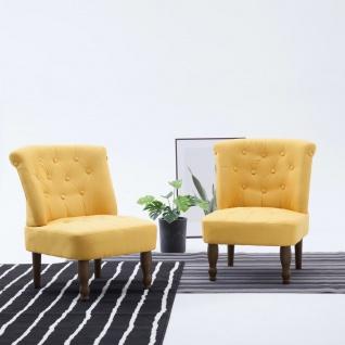 vidaXL Französische Stühle 2 Stk. Gelb Stoff