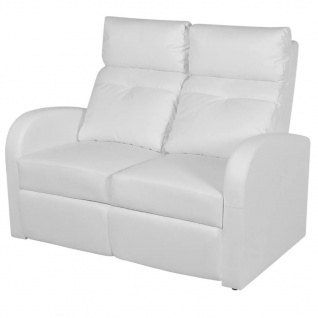 vidaXL Relaxsessel 2-Sitzer Kunstleder Weiß