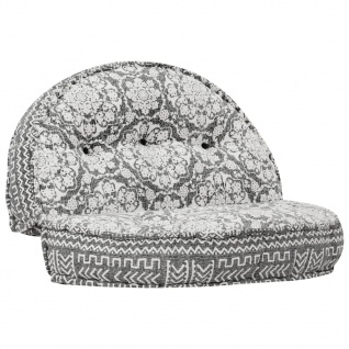 vidaXL Sofa 100×20 cm Stoff Hellgrau
