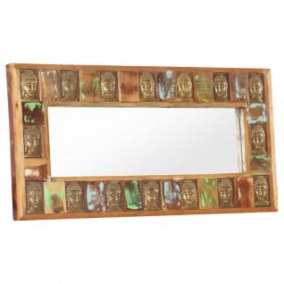 vidaXL Spiegel mit Buddha-Verzierung 110x50 cm Recyceltes Massivholz
