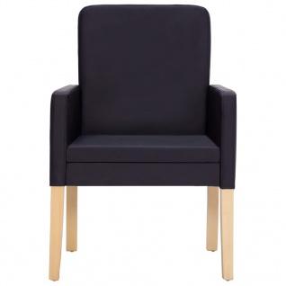 vidaXL Esszimmerstühle 4 Stk. Dunkelbraun Kunstleder - Vorschau 4