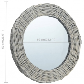 vidaXL Spiegel 60 cm Weide - Vorschau 4