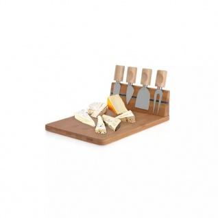Excellent Houseware Käsemesser-Ständer mit Schneidebrett aus Bambus