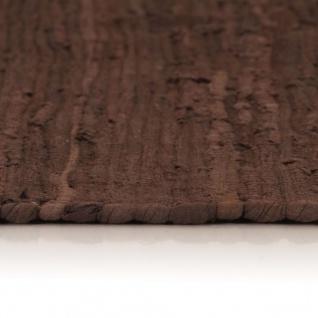 vidaXL Handgewebter Chindi-Teppich Baumwolle 80x160 cm Braun - Vorschau 4