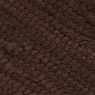 vidaXL Handgewebter Chindi-Teppich Baumwolle 80x160 cm Braun - Vorschau 2