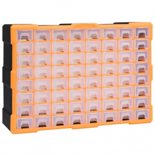 vidaXL Multi-Schubladen-Organizer mit 64 Schubladen 52x16x37, 5 cm