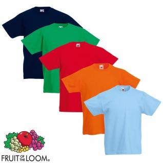 Fruit of the Loom Kinder-T-Shirt Original 5 Stk. Mehrfarbig Größe 140