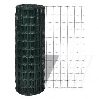 vidaXL Eurozaun Stahl 10 x 1, 7 m Grün