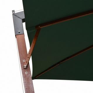 vidaXL Sonnenschirm Ampelschirm 300 x 300 cm Holzmast Grün - Vorschau 5