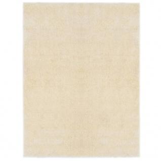 vidaXL Hochflor-Teppich 160 x 230 cm Creme