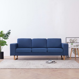 vidaXL 3-Sitzer-Sofa Stoff Blau
