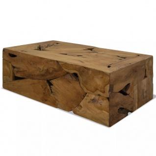 vidaXL Couchtisch Echtholz 90 x 50 x 35 cm Braun