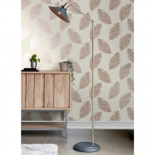 DUTCH WALLCOVERINGS Tapete Fawning Feather Creme