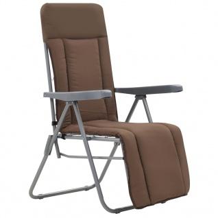vidaXL Klappbare Gartenstühle mit Auflagen 2 Stk. Braun - Vorschau 2