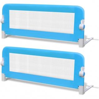 vidaXL Kleinkind Bettschutzgitter 2 Stück Blau 102 x 42 cm - Vorschau 2