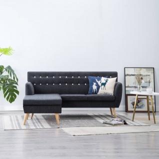 vidaXL Sofa in L-Form Stoffbezug 171, 5 x 138 x 81, 5 cm Dunkelgrau