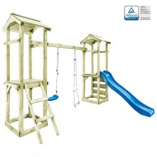 vidaXL Spielturm mit Leiter Rutsche Schaukel 300x197x218 cm Holz - Vorschau 1
