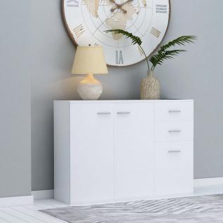 vidaXL Sideboard Weiß 105 x 30 x 75 cm Spanplatte - Vorschau 1