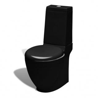 Keramik Toilette WC Schwarz