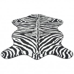 vidaXL Teppich Fellimitat Zebra 70 x 110 cm