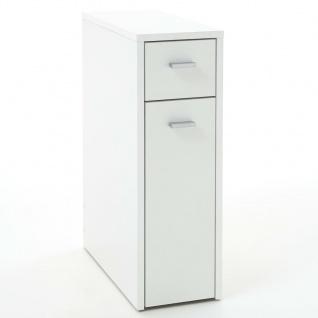 FMD Schubladenschrank mit 2 Schubladen 20×45×61 cm Weiß
