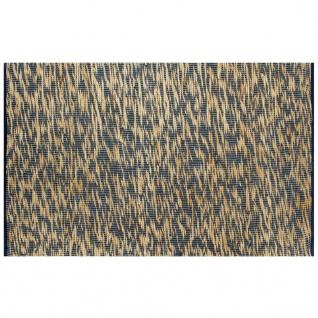 vidaXL Teppich Handgefertigt Jute Blau und Natur 80x160 cm