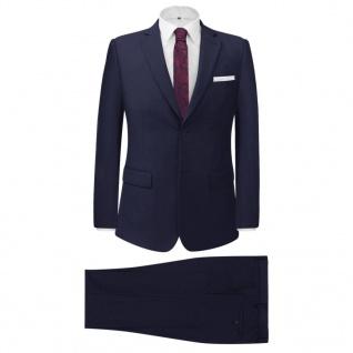 vidaXL 2-tlg. Business-Anzug für Herren Marineblau Gr. 48