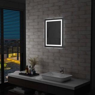 vidaXL Badezimmerspiegel mit LED und Touch-Sensor 50 x 60 cm