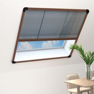 vidaXL Insektenschutz-Plissee für Fenster Aluminium Braun 120x160 cm