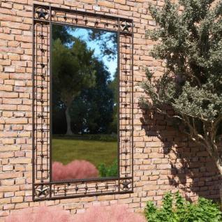 vidaXL Garten-Wandspiegel Rechteckig 60×110 cm Schwarz