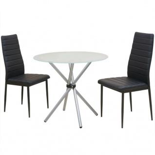 vidaXL 3-tlg. Essgruppe Esstisch mit Stühlen