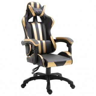 vidaXL Gaming-Stuhl Golden PU