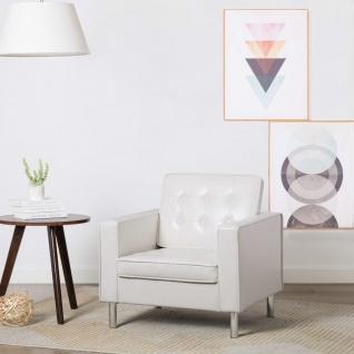 vidaXL Sessel Kunstleder-Polster 75 x 70 x 75 cm Weiß
