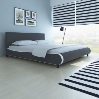vidaXL Bett 180×200 cm Kunstleder Grau