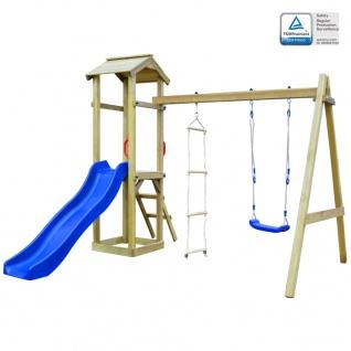 vidaXL Spielturm mit Rutsche Leitern Schaukel 242 x 237 x 218 cm Holz - Vorschau 1