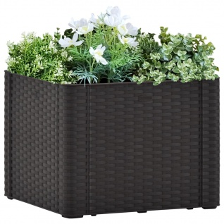 vidaXL Garten-Hochbeet Selbstbewässerungssystem Anthrazit 43x43x33 cm