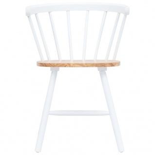 vidaXL Esszimmerstühle 2 Stk. Weiß und Braun Gummiholz Massiv - Vorschau 4
