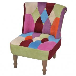 vidaXL Französischer Sessel 2 Stk. Patchwork-Design Stoff - Vorschau 3