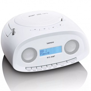 Lenco Portables DAB+ Radio mit CD-/MP3-Player SCD-69 Weiss