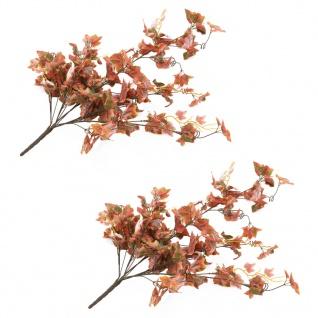 vidaXL Künstliche Blätter Traube 2 Stk. Rot 90 cm