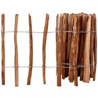 vidaXL Holz-Lattenzaun Haselnussholz Imprägniert 60 x 500 cm