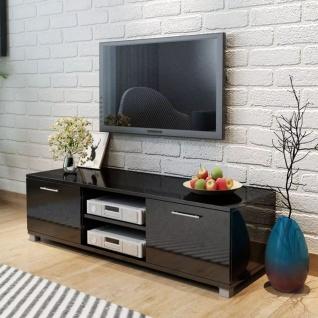 vidaXL TV Schrank Hochglanz Schwarz 120x40, 3x34, 7 cm