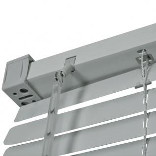 vidaXL Fensterjalousien Aluminium 120x220 cm Silber - Vorschau 3